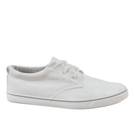 Białe klasyczne męskie trampki BK-6005