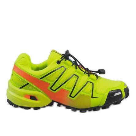 Żółte sportowe obuwie trekkingowe A1503-33
