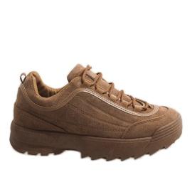 Brązowe modne obuwie sportowe 81016
