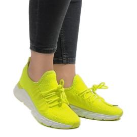 Żółte obuwie sportowe 7766-Y