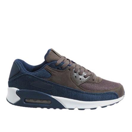 Granatowe męskie obuwie sportowe 8104