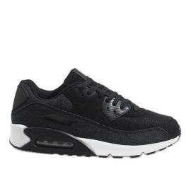 Czarne męskie obuwie sportowe 8104