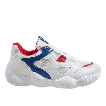 Czerwone modne obuwie sportowe 2018-15 białe