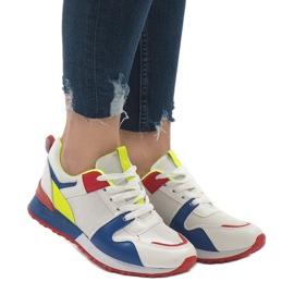 Wielokolorowe modne obuwie sportowe 2018-7 Blue