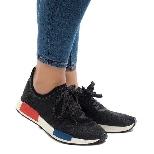 Czarne obuwie sportowe MD01B-5