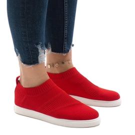 Czerwone obuwie sportowe 1150-Y