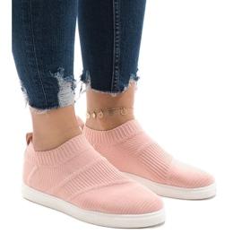 Różowe obuwie sportowe 1150-Y