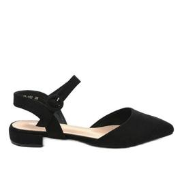 Czarne sandały balerinki 77-100
