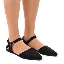 Czarne sandały balerinki 235-4
