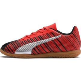Buty piłkarskie Puma One 5.4 It Jr 105664 03 czerwone czarny, czerwony