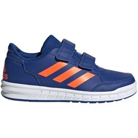 Niebieskie Buty adidas Altasport Cf K granatowo pomarańczowe Jr G27086