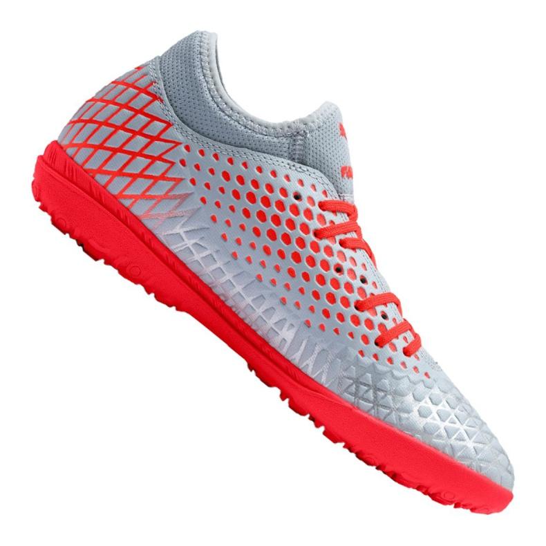 Buty piłkarskie Puma Future 4.4 Tt M 105690-01 czerwony, szary/srebrny szare