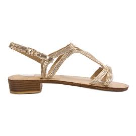 SHELOVET Sandały Na Obcasie żółte