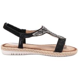 Emaks Wsuwane Sandały Espadryle czarne