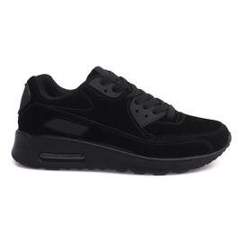Sportowe Trampki Adidasy Zamsz 55109-1 Czarny czarne