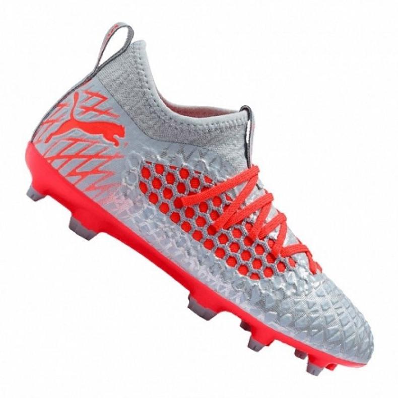 Buty piłkarskie Puma Future 4.3 Netfit Fg / Ag Jr 105693-01 szare czerwony, szary/srebrny