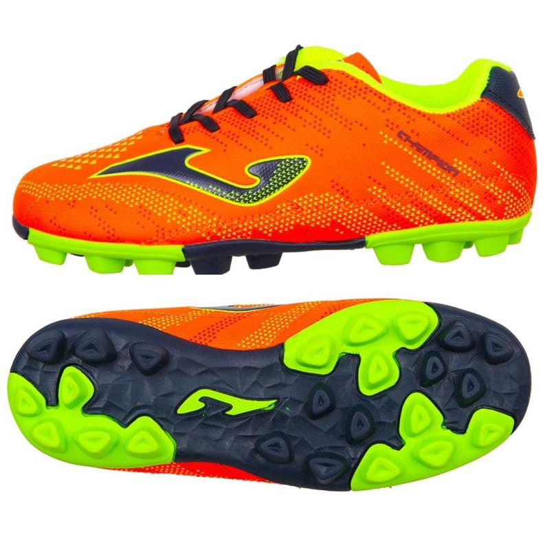 Buty piłkarskie Joma Champion Jr 908 Fg CHAJW.908.24 wielokolorowe pomarańczowe