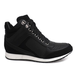 Czarne Sneakersy Na Koturnie 58804 Czarny