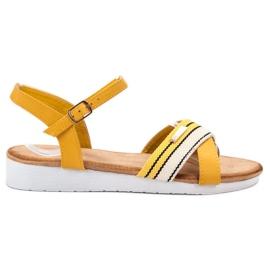Bello Star żółte Sandały Zapinane Sprzączką