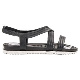 SHELOVET Wsuwane Gumowe Sandały czarne