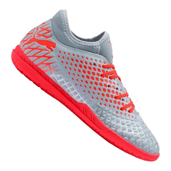 Buty halowe Puma Future 4.4 It M 105691-01 szare czerwony, szary/srebrny