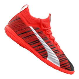 Buty halowe Puma One 5.3 It M 105649-01 czarny, czerwony czerwone