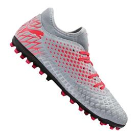Buty piłkarskie Puma Future 4.4 Mg M 105689-01 czerwony, szary/srebrny szare