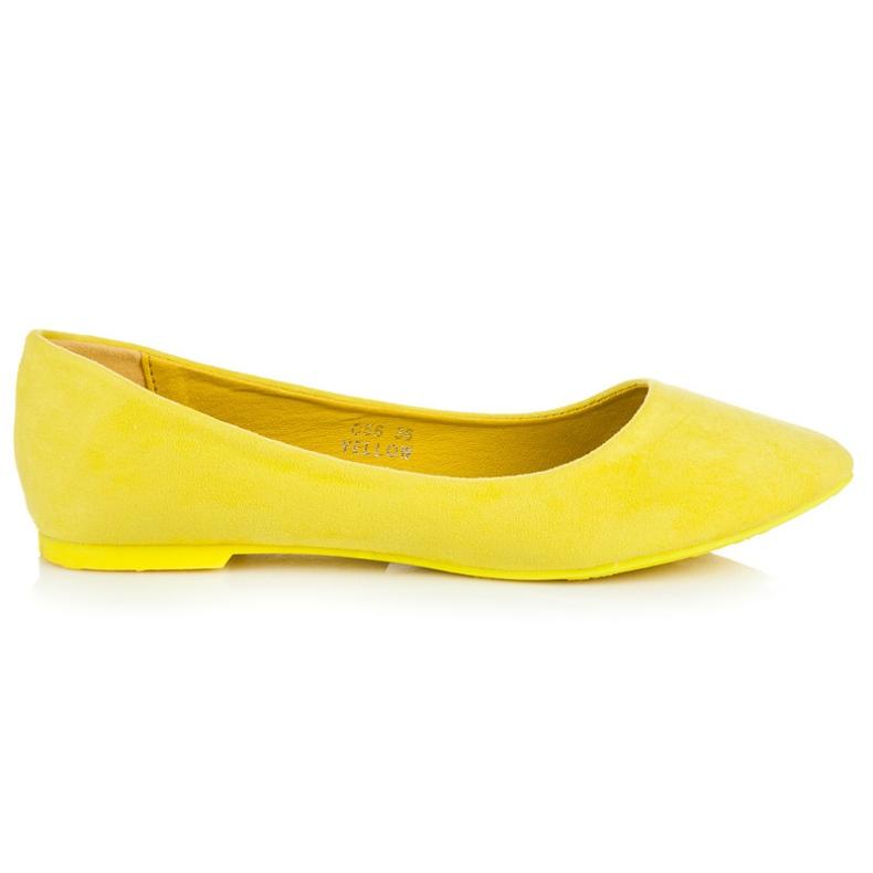 Seastar Zamszowe Baleriny W Szpic żółte