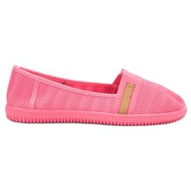 SHELOVET różowe Neonowe Slipony