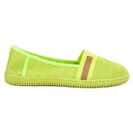SHELOVET żółte Neonowe Slipony