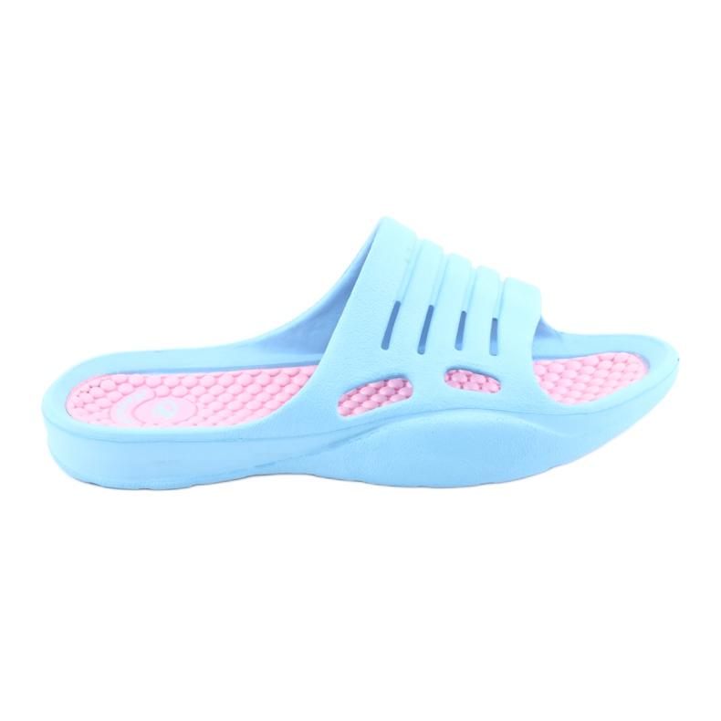Klapki piankowe do wody American Club blue niebieskie różowe