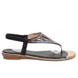 Sandałki japonki czarne M03 Black