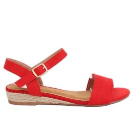 Sandałki espadryle czerwone 9R73 Red
