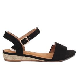 Sandałki espadryle czarne 9R73 Black