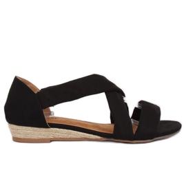 Sandałki espadryle czarne 9R72 Black