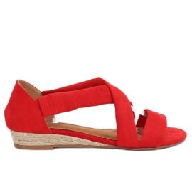 Sandałki espadryle czerwone 9R72 Red