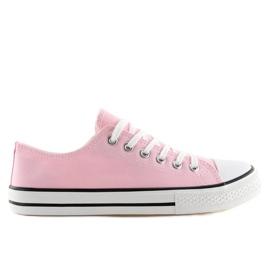 Trampki damskie klasyczne różowe XL03 Pink