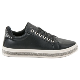 SDS Buty Sportowe Z Cyrkoniami czarne