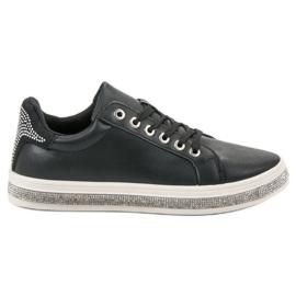 SDS czarne Buty Sportowe Z Cyrkoniami