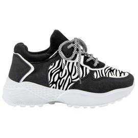SHELOVET Modne Sneakersy Zebra Print