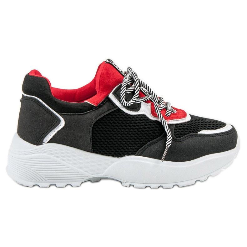 SHELOVET Modne Czarne Sneakersy