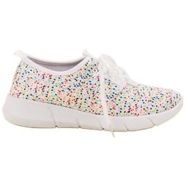Bona białe Buty Sportowe W Kropki