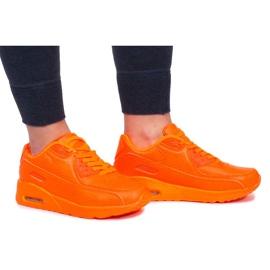 Pomarańczowe Sneakersy B503-3 Pomarańczowy