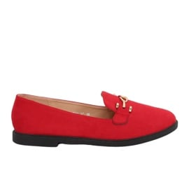 Mokasyny damskie czerwone 1631-127 Red