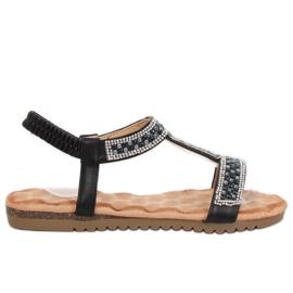 Sandałki damskie czarne HT-67 Black