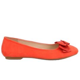 Baleriny damskie pomarańczowe 3173 Orange