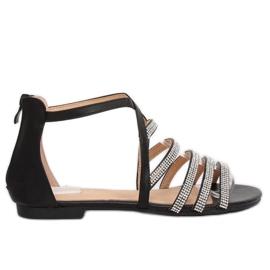 Sandałki damskie czarne LL6339 Black