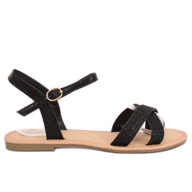 Sandałki damskiei czarne WL282 Black