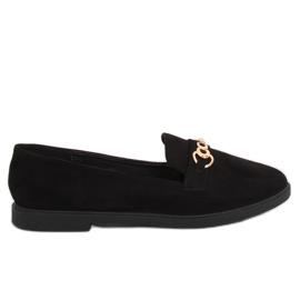 Mokasyny damskie czarne 1631-123 Black