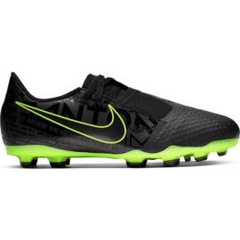 Buty piłkarskie Nike Phantom Venom Academy Fg Jr AO0362 007 czarno - zielone